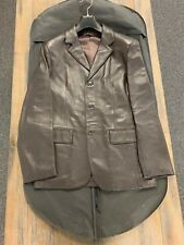 Sisley Men's Brown Leather Jacket with Excellent Condition- Free shipping in US!