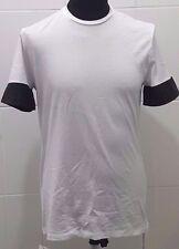 NEW Neil Barrett Mr Porter PBJE22C Crew Neck T-Shirt, White - L