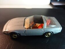 Hot Wheels 80's Gray Corvette w/ red bag & gold hot one wheels