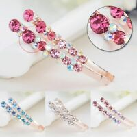 Edge Clamp Bling Headwear Crystal Rhinestone Hair Clip Flower Barrette Hairpin