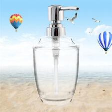 1X Clear Liquid Soap Dispenser ABS Pump Bottle Kitchen Bathroom Handwash Use kit