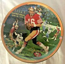 "Bradford Exchange Joe Montana ""The Catch"" Collector Plate"