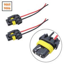 2pcs 9005 9006 Adapter Headlights Fog Light Plug Connector Wiring Harness Socket Fits 1997 Toyota Corolla