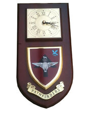 Pathfinders Parachute Regiment Military Shield Wall Plaque Clock new style