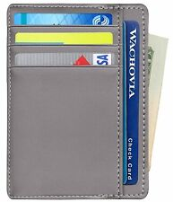 RFID Blocking Wallet, Mini Thin Slim Minimalist Money Clip Front Pocket Wallet