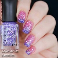 6ml Nail Thermal Color Changing  Polish Glitter Peel Off Varnish Blue to Purple