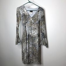 Studio Y Dress Womens Size Small Paisley Floral Lined V-Neck Long Sleeve