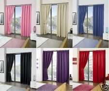 """90"""" x 90"""" Luxury Fully Lined Thermal Blackout Lined Pencil Pleats Curtains Thick"""