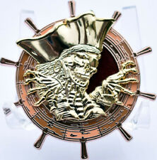 Dead Running Geocoin - Copper & Gold Spinner - New Unactivated