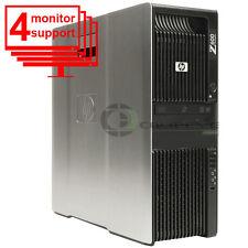 Trading 4 Monitor HP Z600 Computer PC Intel E5640 2.66GHz 12GB 1TB Win10