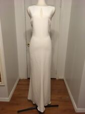 NWT Ralph Lauren Ivory Gown W/ Keyhole Detail Size 16