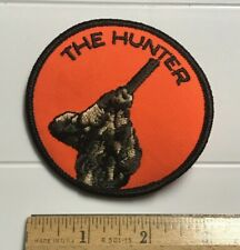 "Hunter Hunting Orange + Camo 3"" Round Embroidered Badge Patch"