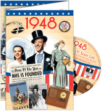 24018 1948 DVD CARD DVDCARD BIRTHDAY GREETING VISUAL HISTORY OF A SPECIAL YEAR