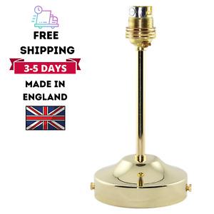 Modern Brass Ceiling Rose Pendant With Tube And Lamp Holder Fitting Lighting