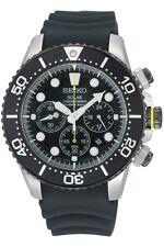Seiko Solar Diver Buzo Reloj Hombre Cronógrafo Fecha de SSC021P1