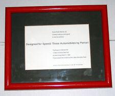 1994 Designed for Speed: 3 Ferrari's at the Museum of Modern Art Invitation