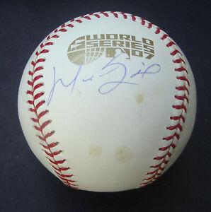 Manny Ramirez 2007 World Series Signed Autographed Baseball JSA