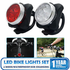 USB Rechargeable Warning Bicycle Light MTB LED Waterproof Front Rear Tail Lamp
