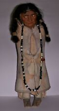 "VINTAGE 1950s SKOOKUM 13"" TALL DOLL INDIAN NATIVE AMERICAN"