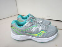 WOMENS SAUCONY GRID COHESION 11 GRAY WHITE TEAL RUNNING SHOES SIZE 8M A204