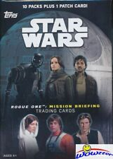 2016 Topps Star Wars Rogue One Mission Briefing EXCLUSIVE  Blaster Box-PATCH !