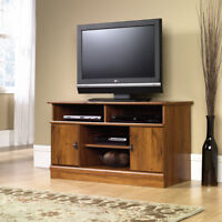 TV Stand Media Console Entertainment Center Storage Cabinet Wood Flat Screen