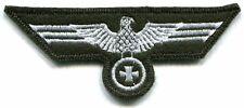 WWII German Heer Army Breast Eagle Iron Cross White on Bottle Green Wool