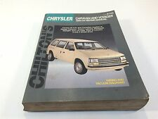 1984 - 1994 Chrysler Caravan and Plymouth Voyager Repair Manual 8155 Chilton's