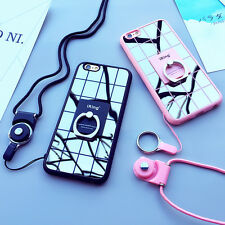 Multi-Use Mirror Protective Cover Case with Necklace For iPhone 6/6s B