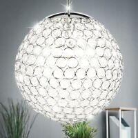 10W LED Hänge Leuchte Kristall Pendel Lampe Wohn Zimmer Kugel Beleuchtung EEK A+