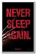"A Nightmare on Elm Street Never Sleep Again 12""x8"" Horror Movie Silk Poster"
