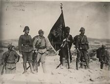 Ottoman Turkish Army Regimental Flag at Kanlisirt World War 1, 7x5 Inch Photo 1