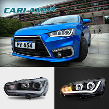 LED DRL Headlights For MITSUBISHI LANCER  EVO X Angel Eyes Assembly