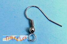 BIGIOTTERIA PERLINE 10 monachelle gancio orecchino - colore argento scuro