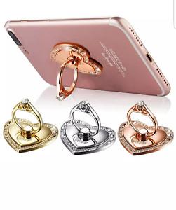 Mobile Phone Heart Ring Holder Finger Grip 360° Stand Mount for Mobile Phones