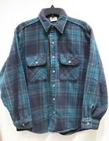 FIVE BROTHER flannel long sleeve button up shirt plaid check mens L multicolor