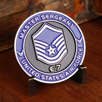 "AIR FORCE MASTER SERGEANT E-7 1.75"" CHALLENGE COIN"