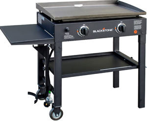 Blackstone 28 inch Outdoor Flat Top Gas Grill Griddle Station - 2-burner - Propa