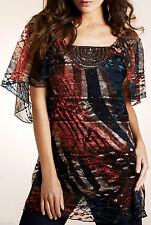 Per Una Women's Short Sleeve Sleeve Casual Tunic, Kaftan Tops & Shirts