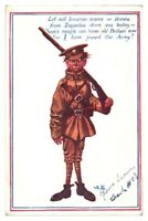Antique military WW1 cartoon postcard I have Joined the Army soldier