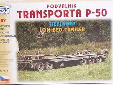 SDV Kunststoff Modellbausatz 1:87 H0 Truck Anhänger Tieflader Transporter P-50