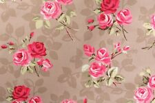 "1.8m/72"" Nancy Marrón Topo Rosas hule limpiar Limpie Mantel PVC Co"