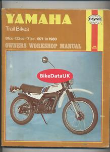 Yamaha DT175 (1971-1980) Haynes Shop Manual DT175MX DT125 DT 100 175 125 MX DV04