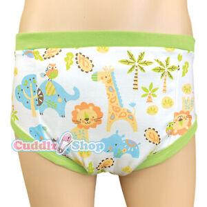 Cuddlz Safari Pattern Adult Size Padded Training Pants Briefs