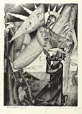 Hermann Naumann-el buen Shepard-federlithografie 1958