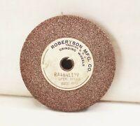 "Vtg Robertson 4 1/8""x1/2""x1/2"" grinding sharpening honing wheel stone tool post"