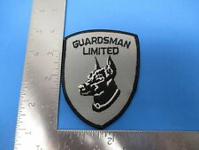 Guardsman Limited Patch Embroidered Gray & Black Doberman Pinscher S3189