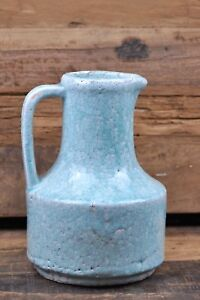 1 Krug Vase Deco Farbe:Spring Blue Blau, Jug Neo craquele Keramik von BRYNXZ
