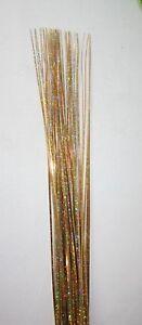 50 Curl Gold Metallic Bear Onion Spray Grass 4 Floral Display or Cake Decoration