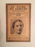El Guía de La Concierto Y Las Teatro Letra Colette Frantz N º 25 1930